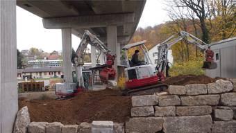 Unter der Autobahnbrücke entsteht ein neuer Teil des Hammerparks: eine Art Endlosschlaufe für Mountainbiker, der Pumptrack.