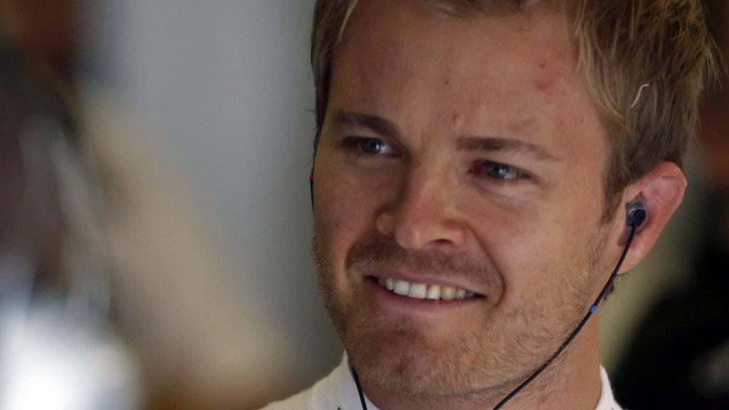 Nico Rosberg hat nach seiner Pole-Position allen Grund zum Strahlen