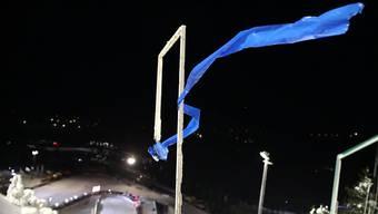 Die Windfahnen zeigen es an: Ein Springen ist nicht möglich