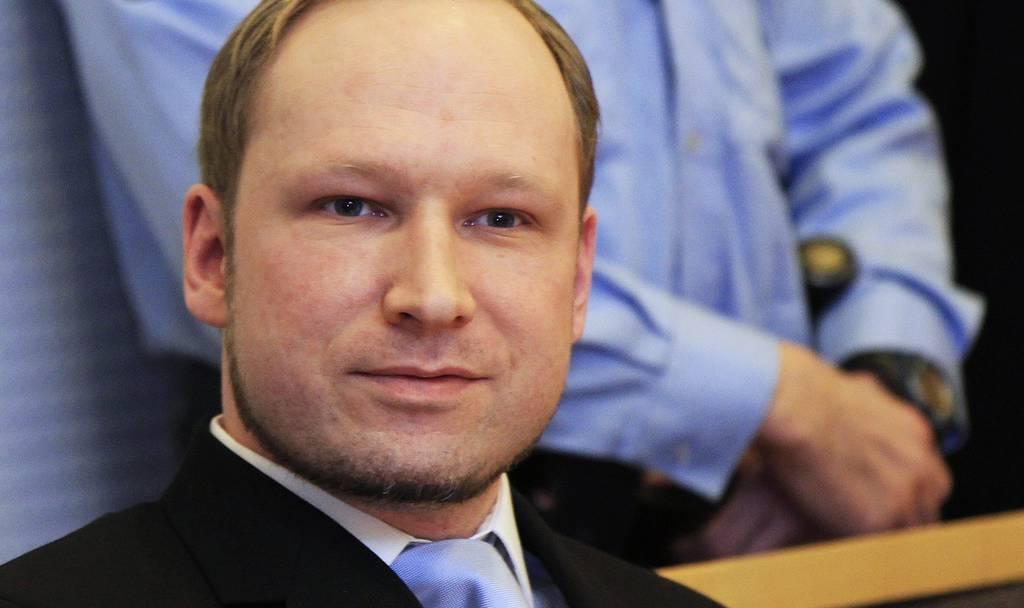 Anders Behring Breivik steht am 6.Februar 2012 vor Gericht