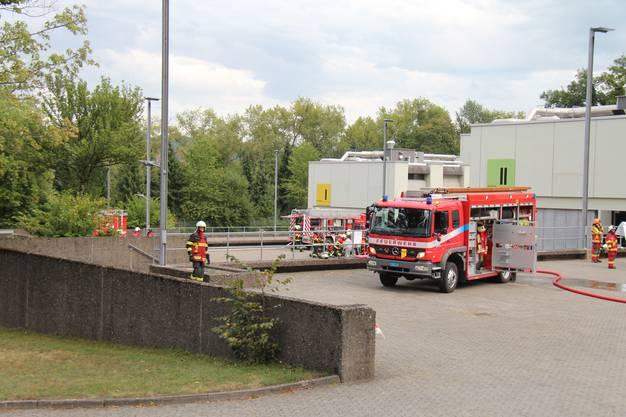 Grosse Feuerwehrübung in der Kaserne Bremgarten.