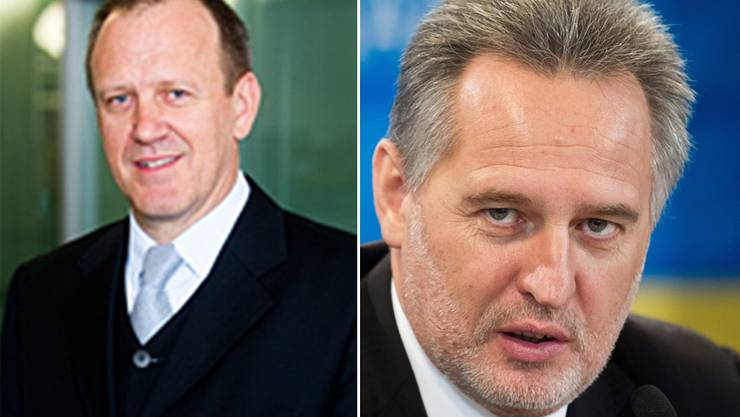 Anwalt Hans Baumgartner und Oligarch Dmitri Firtasch.