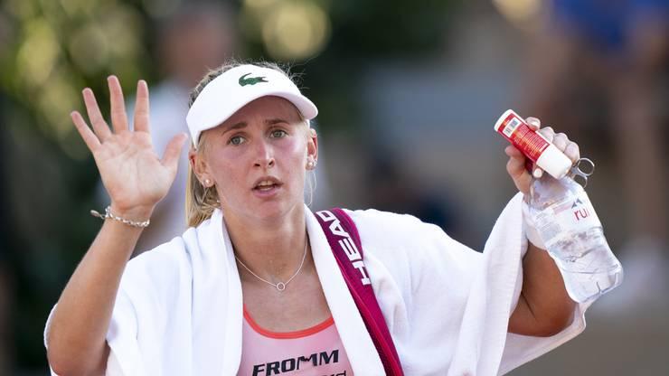 Muss sich geschlagen geben: Jill Teichmann scheidet in Lausanne aus.