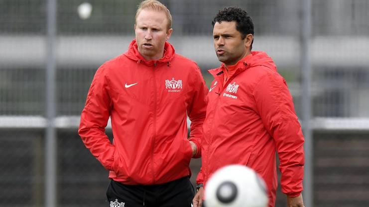 Das neue FCZ-Trainerduo Ludovic Magnin (links) und Uli Forte.