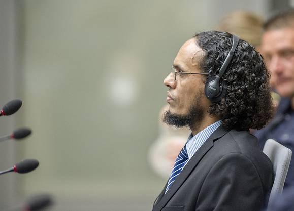 Ahmad Al Faqi Al Mahdi am ersten Prozesstag vor dem ICC in Den Haag.