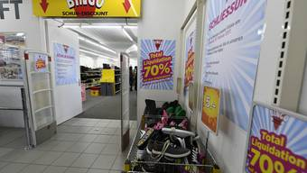 Der Bingo Schuh-Discount an der Maienstrasse neben «Otto» geht Ende Woche zu.