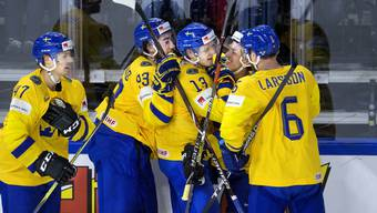 Die Schweden bejubeln einen ihrer Treffer gegen die USA
