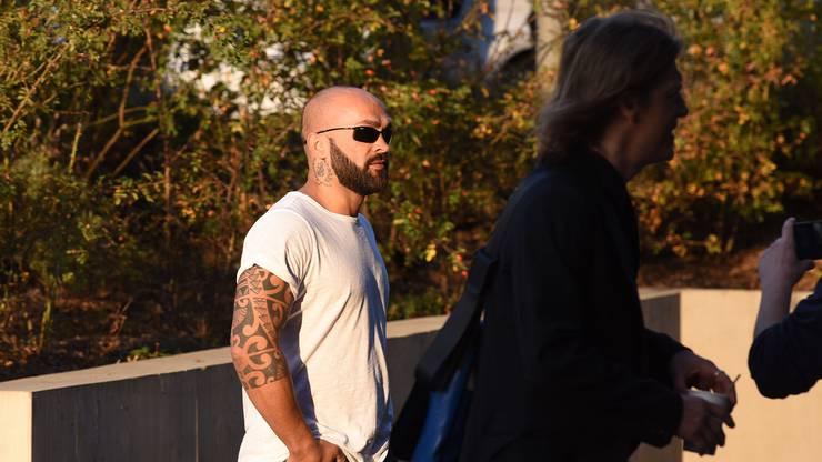 Paulo Balicha mit seinem Verteidiger bei der Ankunft ins Strafjustizzentrum in Muttenz. Juri Junkov
