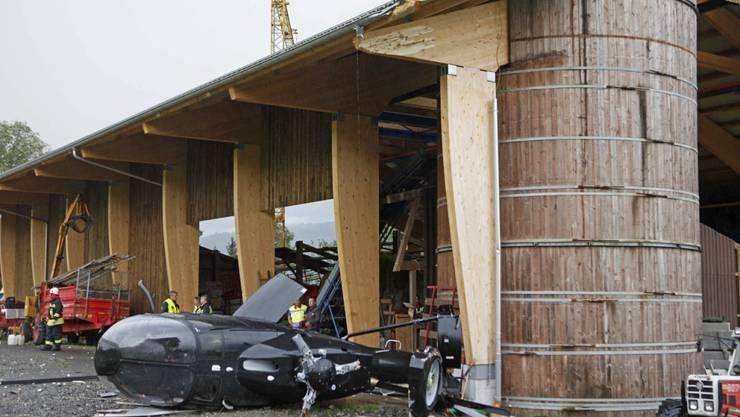 Helikopter-Absturz im Kanton Schwyz