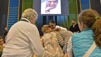 Amma umarmt in der Winterthurer Eulachhalle noch bis Donnerstag