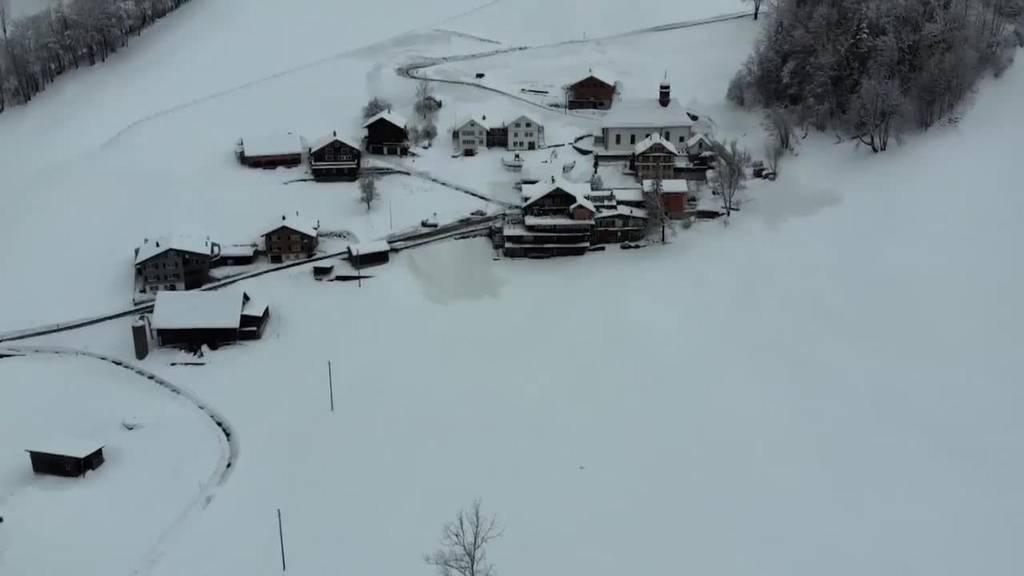 Alltag Schnee: Im Schnee und Schattenloch