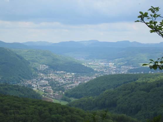 Und von Frenkendorf aus hat man auch einen wunderschönen Blick auf die Kantonshauptstadt Liestal.