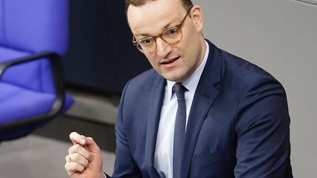 Möchte die deutschen Ärzte aus der Schweiz zurück: Deutschlands Gesundheitsminister Jens Spahn. (Archivbild)