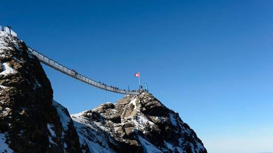 Peak Walk auf dem Glacier 3000 in Ormont-Dessus – Länge: 107 Meter Eröffnung: 2014
