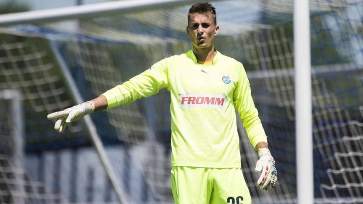 Joël Mall spielte mit GC im Testspiel gegen den FC Biel auf dem GC-Campus in Niederhasli.