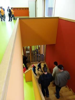Treppenhaus im neuen Schulhaus