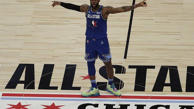 LeBron James war nur einer von vielen Superstars beim Allstar-Game der NBA in Chicago