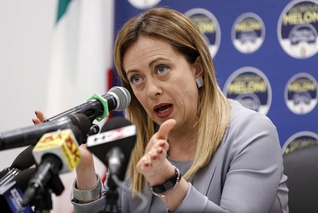 Sie kommt Matteo Salvini in Umfragen immer näher: Giorgia Meloni, Chefin der Fratelli d'Italia.