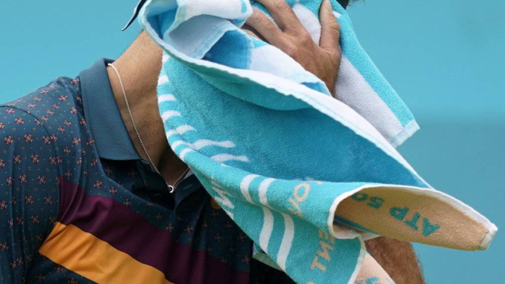 Wieder grosses Pech: Juan Martin Del Potro verletzte sich beim Turnier in Queen's erneut schwer am Knie
