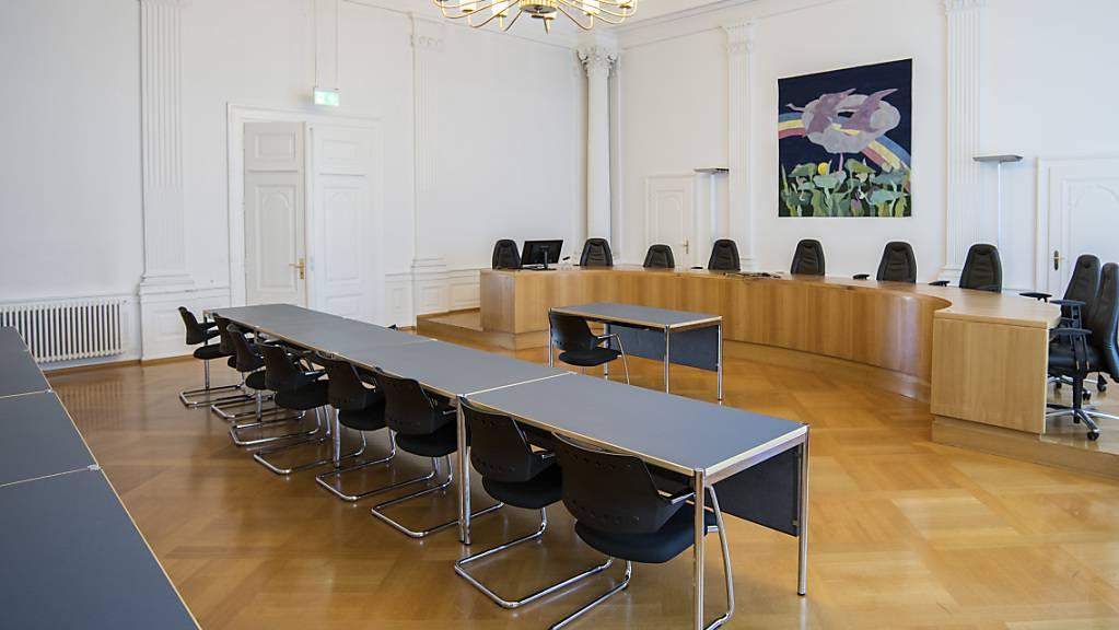 Der grosse Saal des Solothurner Obergerichts: Hier verhandelte das Amtsgericht Dorneck-Thierstein an drei Tagen den Fall. (Archivbild)