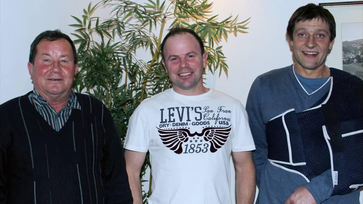 Remo Bader (Mitte) gewann den St. Martinscup 2013 und verwiese Ernst Bader (links) und Andy Brunner (rechts) auf die weiteren Plätze.