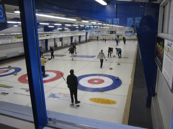 Guter Spielüberblick aus dem Curlingcafe