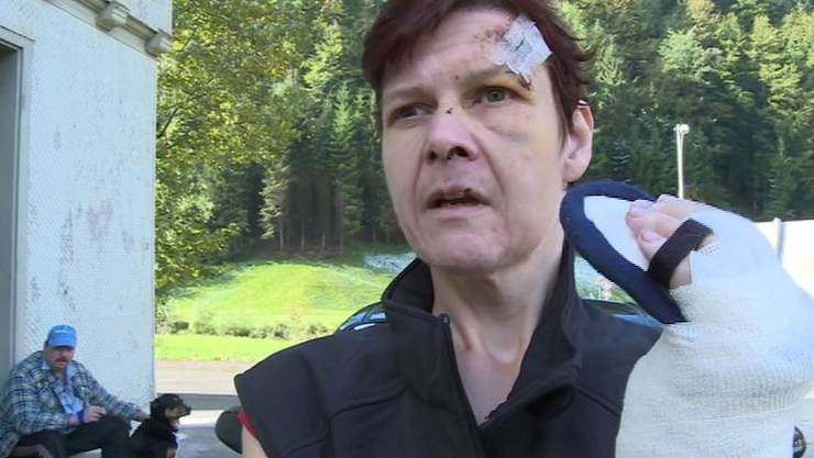 Erika Michel wurde von Kühen attackiert