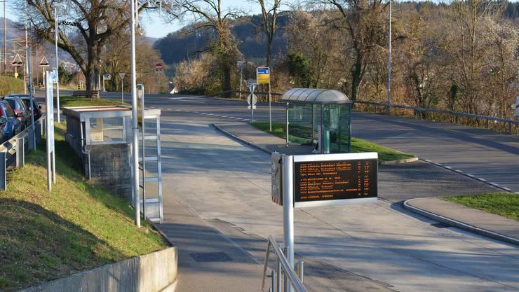 Eine Zwischenlösung: Die Bushaltestelle beim Bahnhof Birmensdorf soll im Jahr 2018 neu gestaltet werden.