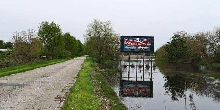 Die Memory Lane, ein gut erhaltenes Stück Route 66.