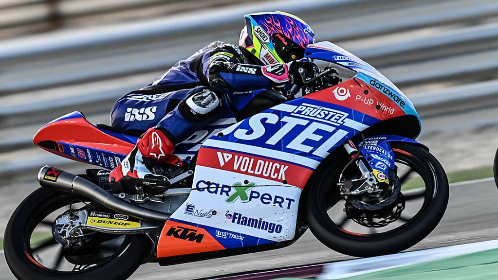 Auch Jason Dupasquier (Moto3) muss wie Lüthi ins Q1. Dupasquier belegt Platz 17.