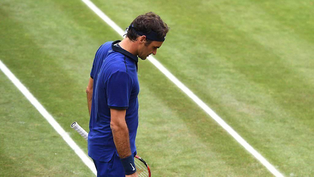 Ärgerliche Niederlage: Roger Federer verlor in einer spektakulären Partie gegen Dominic Thiem