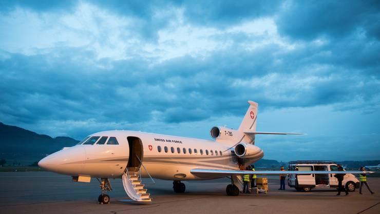 War 2018 das beliebteste Fortbewegungsmittel des Bundesrats in der Luft: der Dassault Falcon 900EX EASy II. (Keystone)