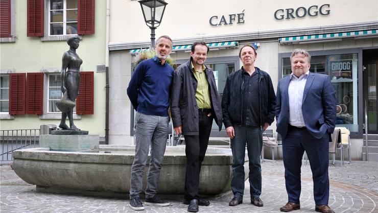 Die neue «Gruppe im Graben» und «Next Stop Olten» (von links): Andreas Stettler, Klaus Kaiser, Martin Schaffner und Wolfgang Niklaus.