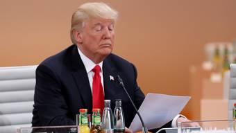 Soll seines Amtes enthoben werden: Donald Trump. Um ein solches Verfahren durchzusetzen, müsste der Antrag eine einfache Mehrheit im Repräsentantenhaus erhalten.