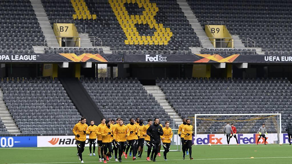 Als Einheit zum Wunder von Bern? Die Young Boys wärmen sich im Wankdorf für die kaum lösbare Aufgabe gegen Ajax Amsterdam auf
