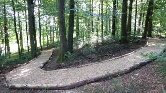 Die Finnenbahn im Wald wurde wieder instand gestellt.zvg