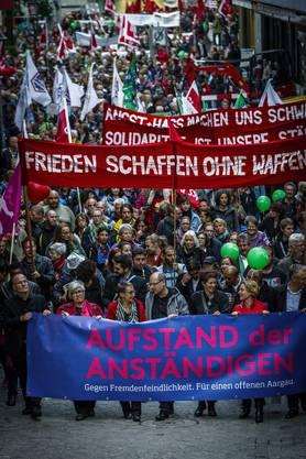 «Aufstand der Anständigen»: Impressionen von der Demonstration.