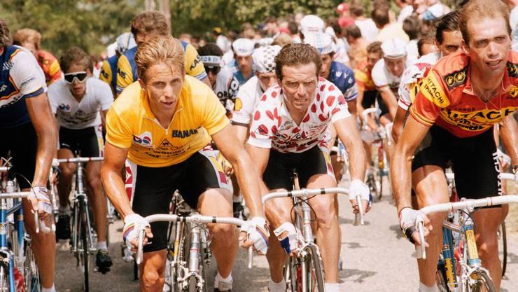 Der dreifache Tour-de-France-Sieger Greg Lemond (l.) gab Erzberger den Spitznamen: «Swiss Candy Man».