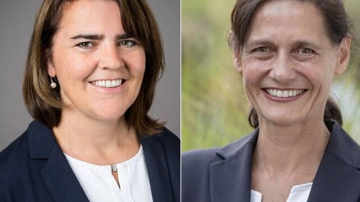 Sie beide könnten Geschichte schreiben und als erste Frauen ihre Kantone im Parlament vertreten: Antonia Fässler, CVP Appenzell Innerrhoden (links) und Monika Rüegger, SVP Obwalden. (Archivbild)