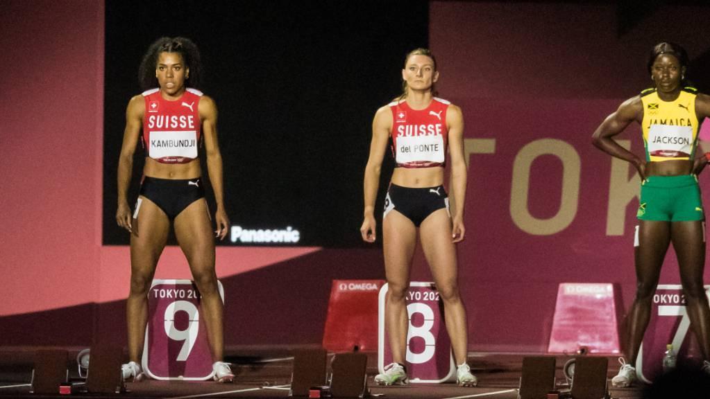 Ein Bild für die Schweizer Sport-Geschichte: zwei Athletinnen, Mujinga Kambundji (links) und Ajla Del Ponte im Olympia-Final über 100 Meter