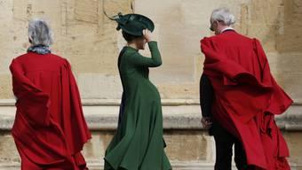 Hier noch hochschwanger: Pippa Matthews am 12. Oktober bei der Hochzeit von Prinzessin Eugenie.