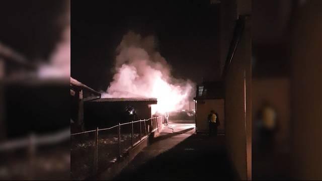 Autobrand in Unterkulm