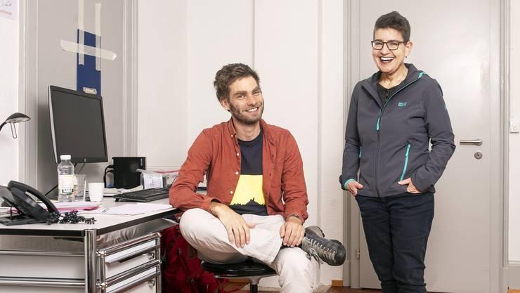 Tobias Hochstrasser und Sharon Katz beraten Süchtige.