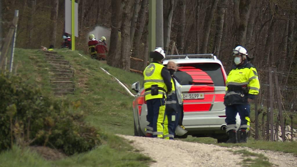 Löhningen: Waldbrand fordert Feuerwehrleute