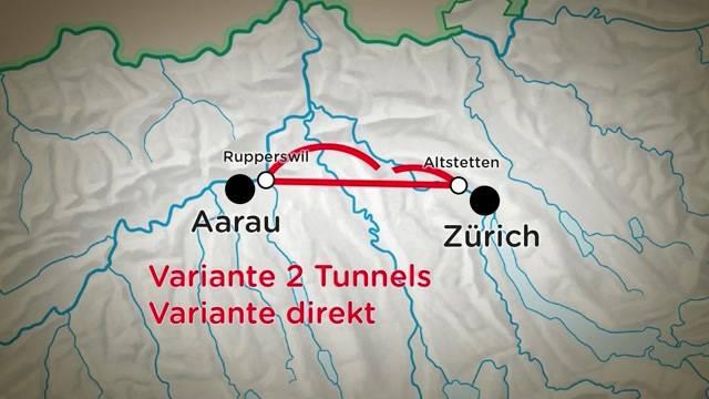 Mega-Tunnel von Zürich nach Aarau