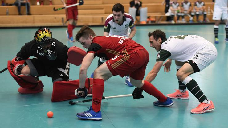 Im Landhockey-Europacup, der für sie ein Heimspiel sein wird, will Rotweiss Wettingen zusammen mit Spieler Michèl Morard (M.) alles geben.
