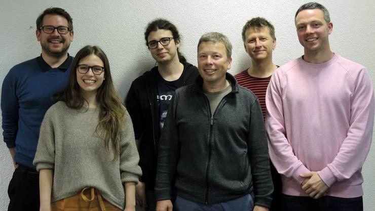 Vorstand von links: Michael Staubli, Jessica Ziegler, Claudio Miotti (Co-Präsident), Stefan Häuser-mann (Co-Präsident), Markus Tellenbach und Emanuel Ebner
