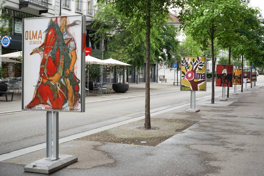 Der Plakatweg führt vom Bahnhof über die Poststrasse in Richtung Unterer Graben. (Bild: zVg)