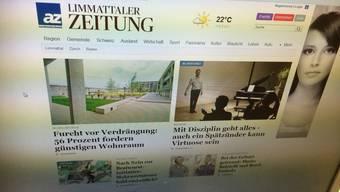 Die neue Homepage der Limmattaler Zeitung ist besser strukturiert und bietet mehr Inhalt.