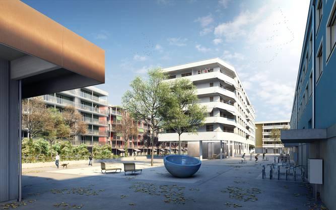 Es entstehen 177 Wohnungen sowie Raum für Gewerbe und Büroflächen.